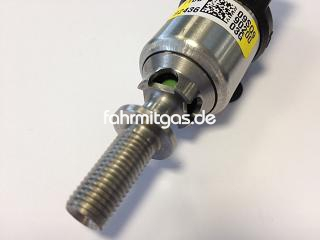 neue Version LPG Autogas BRC Injektor IN03 gelb