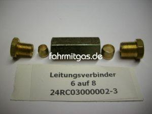 Gasleitungsverbinder 6 auf 8mm