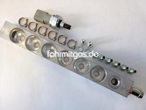 BRC Railblock komplett 6 Zyl. Reihe P&D MJ09 mit PTS Sensor