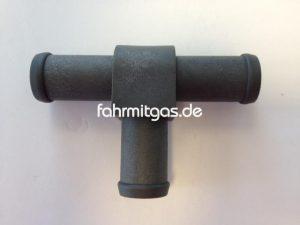 T-Stück (Kühlmittel) 16x16x16 (PVC-grau)