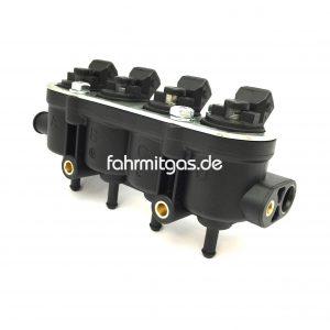 Landirenzo MED Rail 4Zyl. Injektor schwarz ohne Sensor