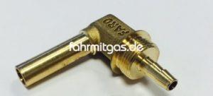 Faro Winkelstück 8 auf 8mm Flexleitung, kurz